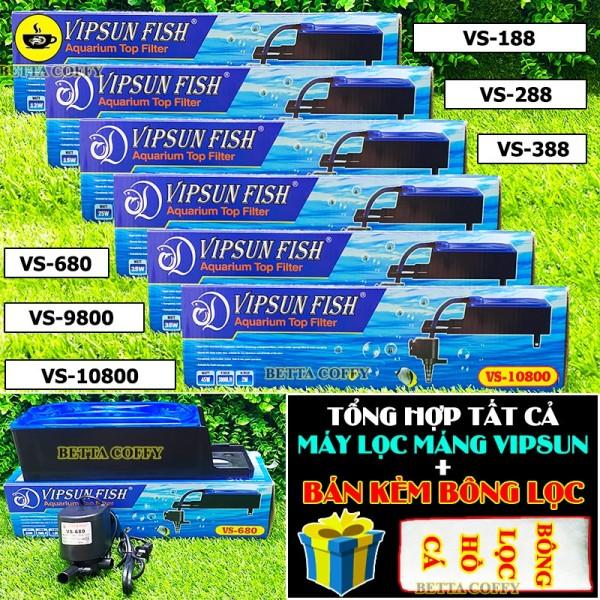 Máy Bơm Lọc Máng Hồ Cá Vipsun VS 188 - 288 - 388 - 680 - 9800 - 10800 - XEM KĨ PHÂN LOẠI