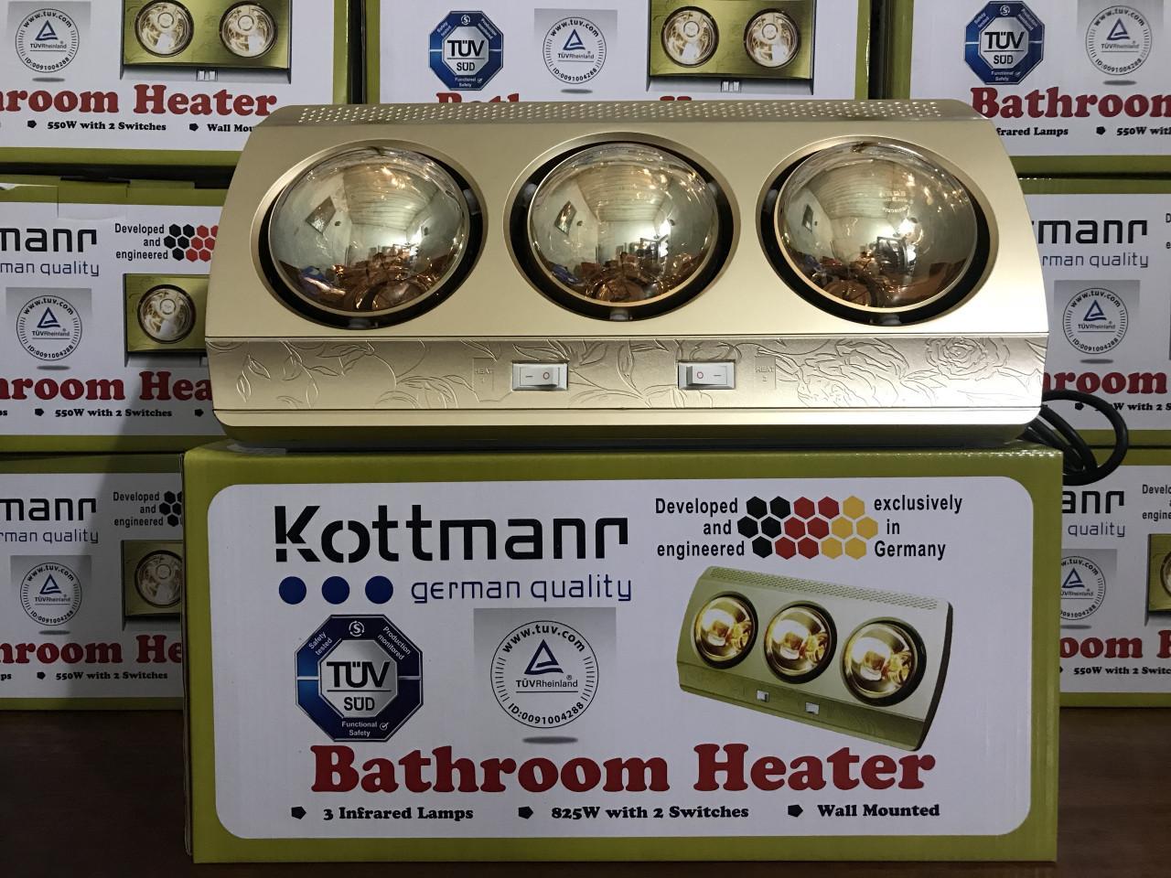 Đèn sưởi nhà tắm Kottmann 3 bóng K3BHC