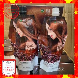 Thuốc nhuộm phủ bạc nâu(đen) BIBOP cặp 500ml x2 xuất xứ Nhật Bản phủ bạc 100% không dính da đầu, không phai hung đỏ thumbnail