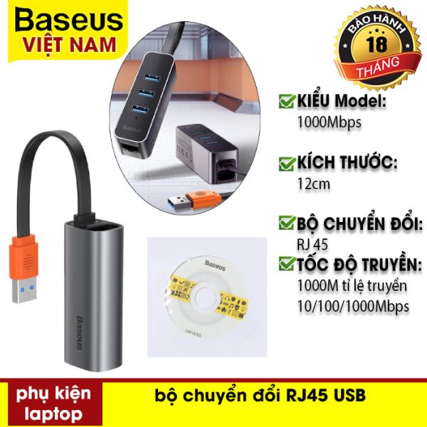 Bảng giá Hub chuyển đổi  Baseus Steel Cannon Series USB A Gigabit LAN Adapter từ USB - Type-C sang RJ45 cho MacBook Pro Phong Vũ