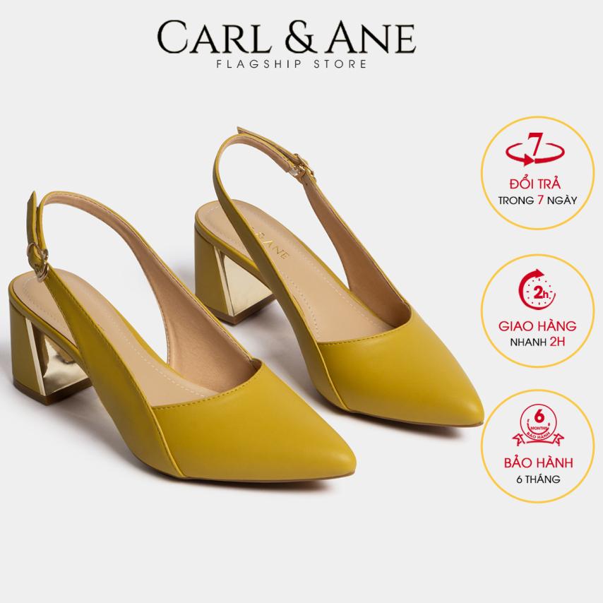 Carl & Ane - Giày cao gót thời trang mũi nhọn phối dây kiểu dáng basic cao 7cm CL001 (YE) giá rẻ