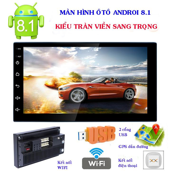 Màn Hình Ô Tô Android Tiếng Việt Lắp Chung Các Dòng Xe RK-A708