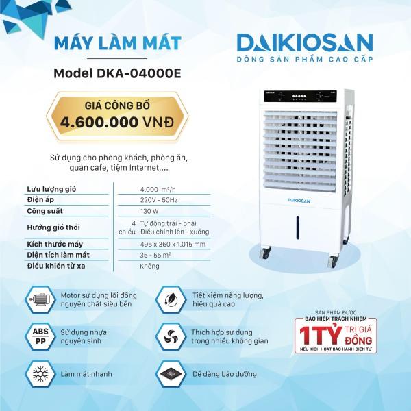Quạt điều hòa (Quạt hơi nước) Daikio DKA-04000E