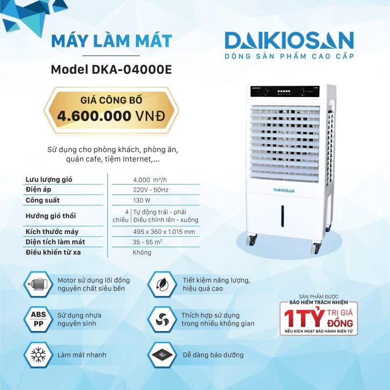 Bảng giá Quạt điều hòa (Quạt hơi nước) Daikio DKA-04000E