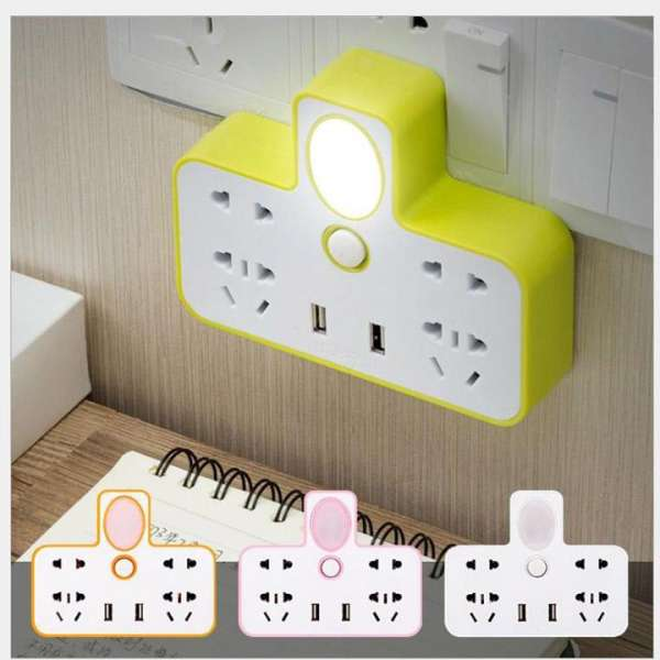 Bộ chia ổ điện Ổ cấm điện 2 cổng USB - có đèn ngủ