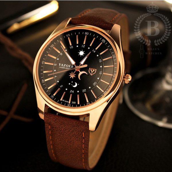 Đồng hồ Nam Yazole 368 [Billux] dây da - 40mm (2 màu) [YZLMT004] bán chạy