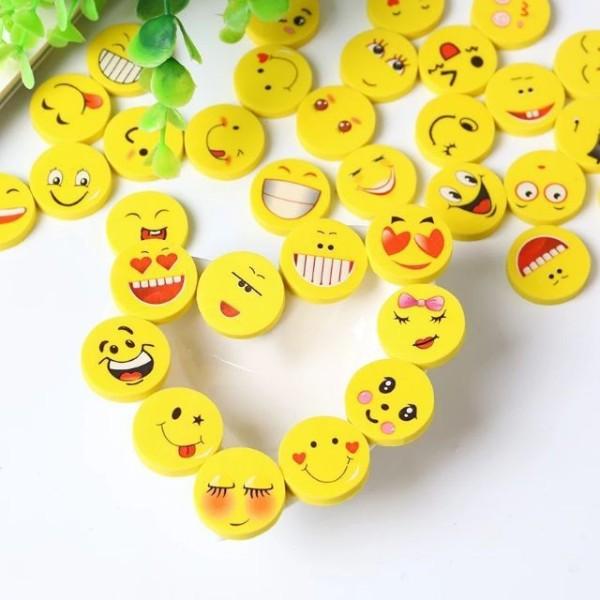 Bộ 4 viên tẩy bút chì hình mặt cười siêu đáng yêu