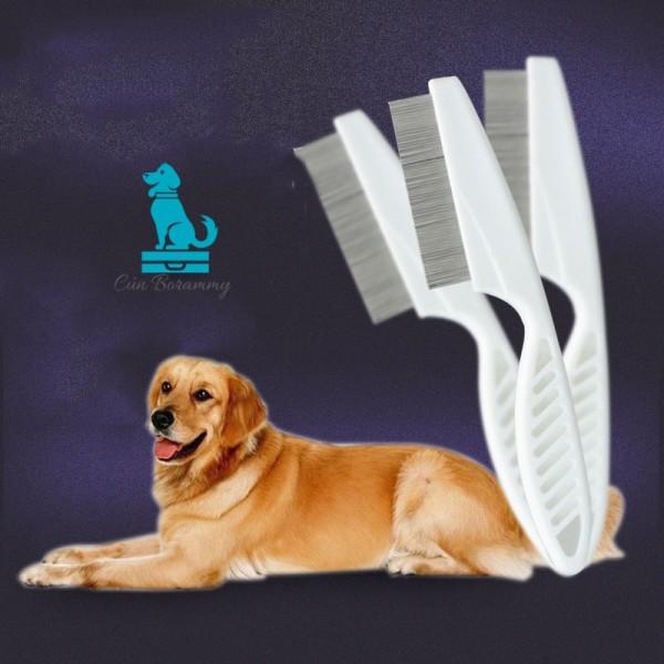 Lược chải lông chó - lược chải lông méo lược chải bọ chét và chấy giúp lấy lông chết, làm bóng mượn lông cho thú cưng ngăn ngừa các bệnh về da cho chó mèo