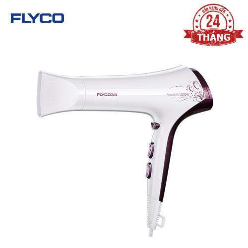 Máy sấy tóc FLYCO FH 6272 - Thiết kế thời trang cao cấp - Công suất lớn 2200W - Chức năng tạo ion giúp tóc khỏe - 6 Mức điều chỉnh - Hàng chính hãng bảo hành 24 tháng.