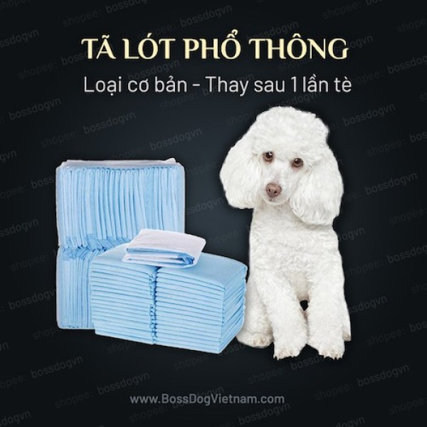 Tã lót vệ sinh chó (loại dùng 1 lần - nhanh gọn)  BossDog - Blue Size M (10 tã)