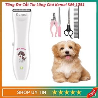 Tông Đơ Cắt Tỉa Lông Cho Thú Cưng Kemei KM 1051, Máy Cắt Tỉa Lông Cho Chó Mèo,Lược Chải Lông Chó Mèo thumbnail