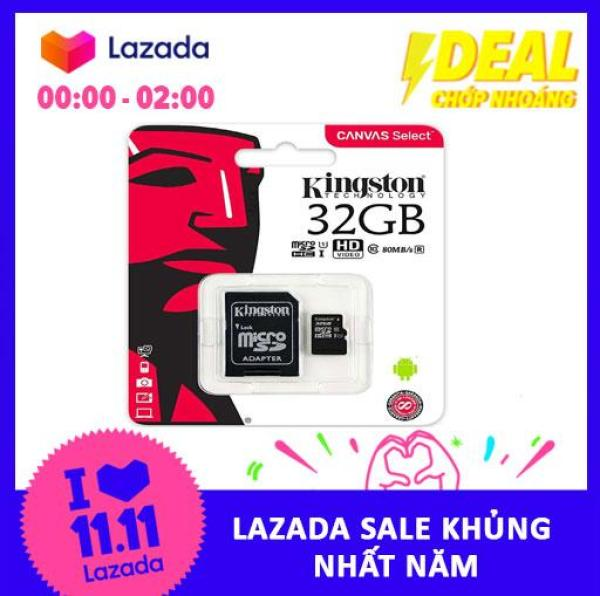 Thẻ nhớ MicroSDHC Kingston Canvas Select 32GB Class 10 U1 (SDCS/32GB)