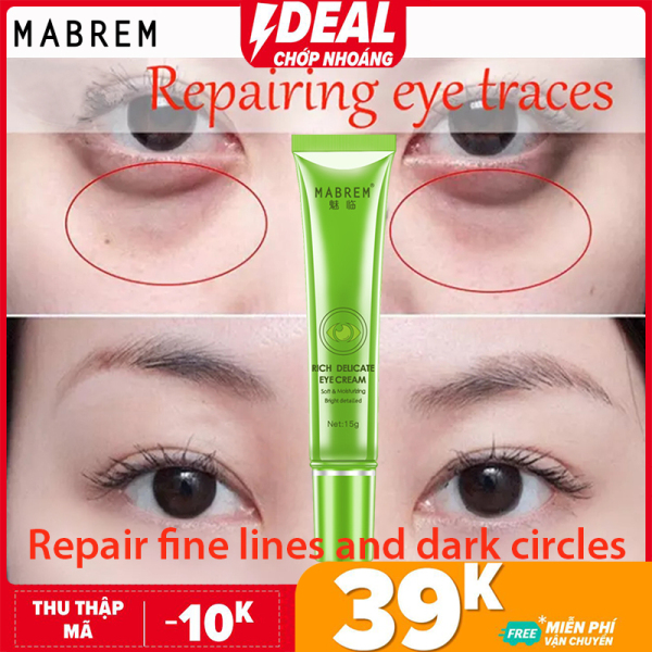 MABREM Kem dưỡng mắt chống nhăn chống lão hóa Peptide Collagen Repair Remover Dark Circles Fat Granule Moisturizing