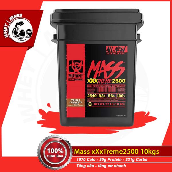 [HCM]Sữa Tăng Cân Tăng Cơ Nhanh MUTANT MASS XXXTREME 2500 22lbs (10kgs) từ CANADA
