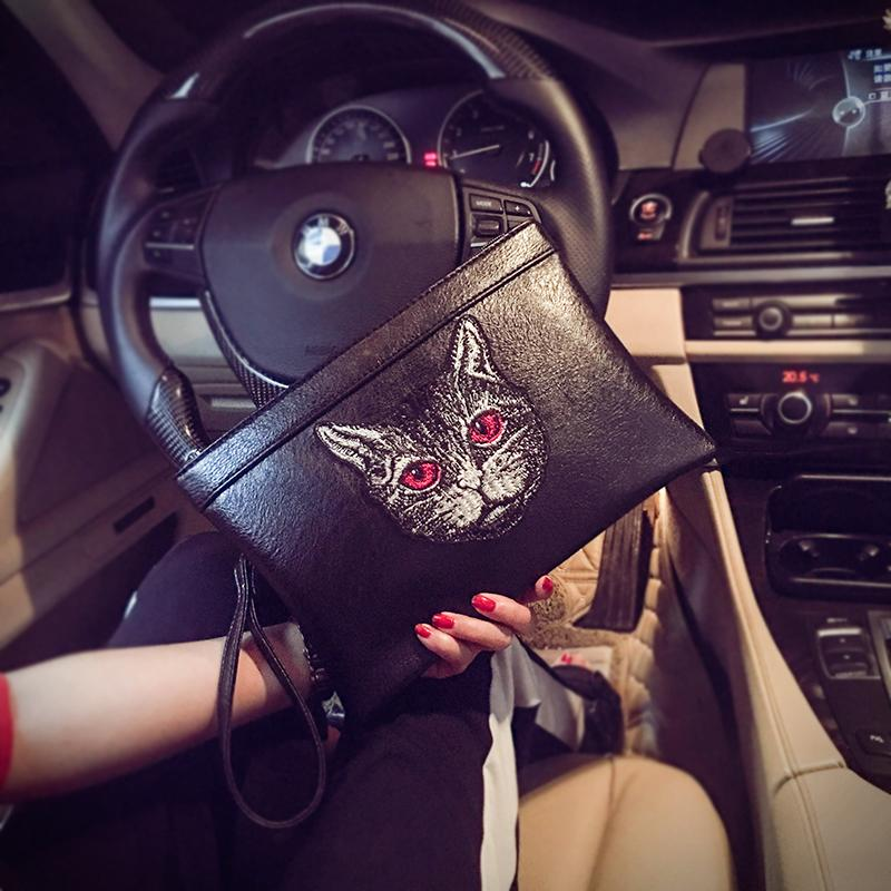 Chinese-style Cool Korean Style Clutch Trend Fashion And Personality Clutch Bag Men And Women Handbag Envelope Wrist Wrap
