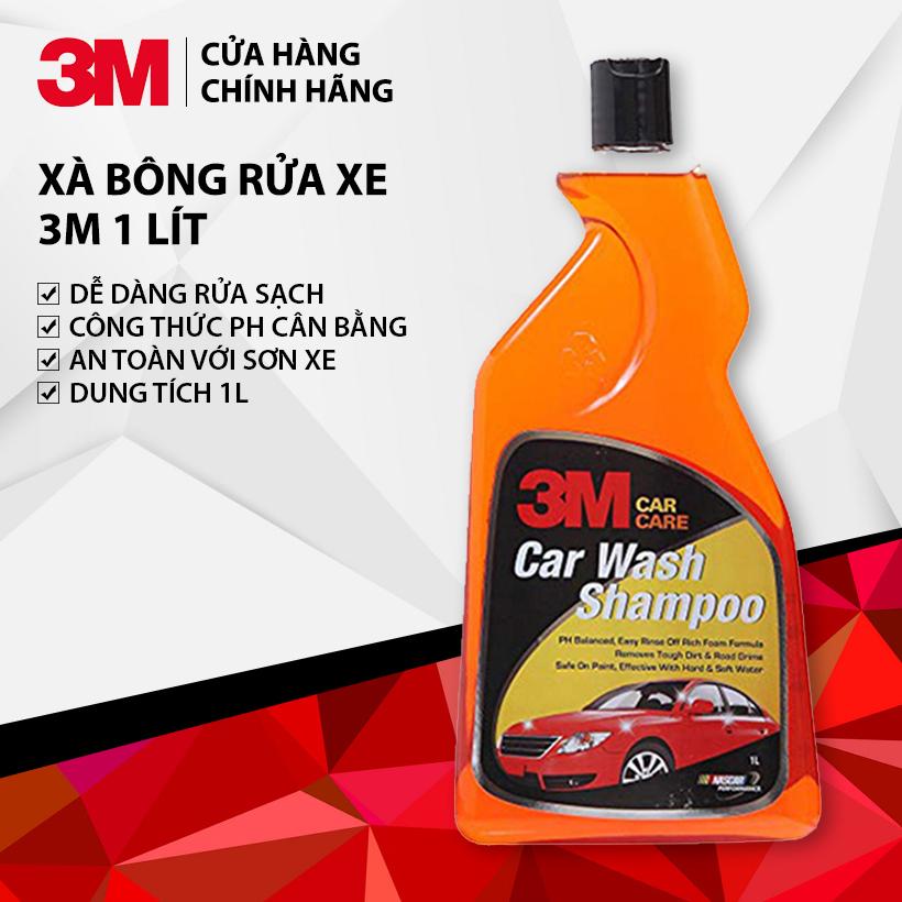 Xà Bông Rửa Xe Đậm Đặc - PH Cân Bằng, Tạo Nhiều Bọt 3M Car Wash Shampoo 1L 305860 - Hàng Chính Hãng Có Giá Rất Cạnh Tranh