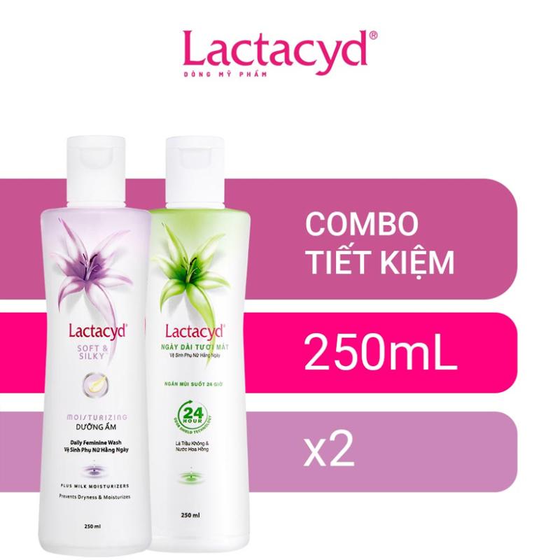 Bộ 2 Chai Dung Dịch Vệ Sinh Phụ Nữ Lactacyd Soft & Silky 250ml + Ngày Dài Tươi Mát 250ml giá rẻ