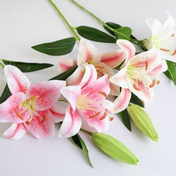 [COMBO 5] Hoa ly giả đẹp như thật, siêu bền, Hoa giả hoa ly cao su silicol, Bông ly giả, Cành hoa ly, Hoa loa kèn, Hoa bách hợp/TẾT 2021