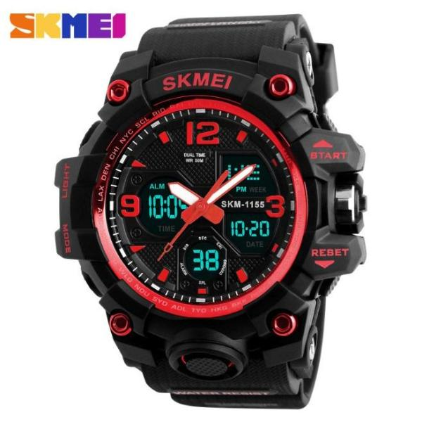 Nơi bán Đồng hồ nam giá rẻ- Đồng hồ nam điện tử thể thao skmei 1155B - siêu chống nước (M Chọn màu)
