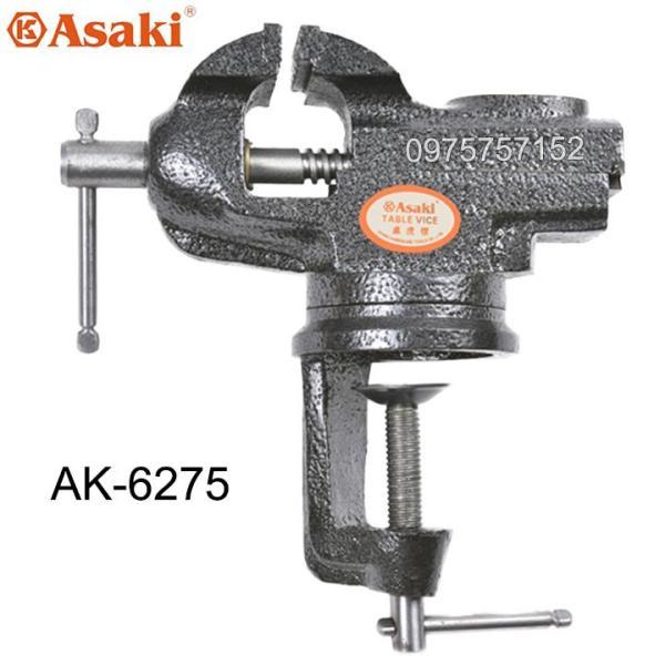 Ê tô kẹp bàn mâm xoay 360° Asaki F50, Chiều rộng hàm 50mm (Kẹp tối đa 60mm) (Hãng phân phối chính thức)