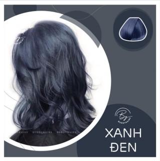 Thuốc nhuộm tóc màu xanh đen xanh đen dương khói tặng oxy trợ nhuộm , thuốc nhuộm avaty siêu dưỡng không hại tóc da đầu thumbnail