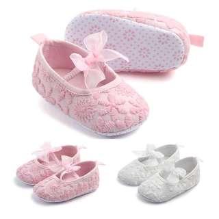 I Love Daddy & Mummy Giày Em Bé Giày Bệt Bé Gái Sơ Sinh 0-18 Tháng Tuổi Chống Trượt Thắt Nơ Hoa Ren Dễ Thương