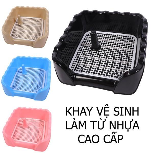 Khay Vệ Sinh Cho Chó Đực Thành Cao Size To Cho Chó Từ 4 - 10kg - Mã CKVS11