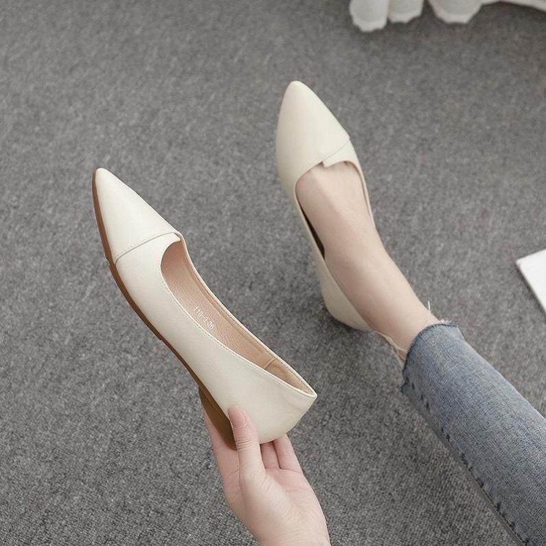 Giày bệt nữ đủ 2 màu đen kem MÃ A10 giá rẻ