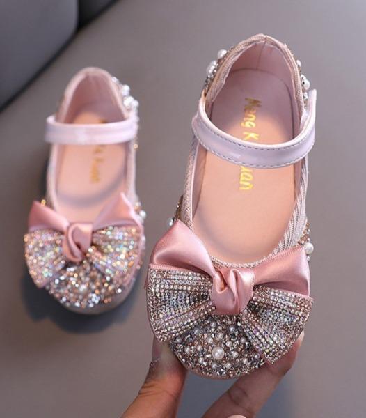 Giá bán Giầy  nơ gắn đá siêu sang chảnh cho bé yêu -giày búp bê bé gái - giày công chúa - giày hót nhất 2020 cho bé