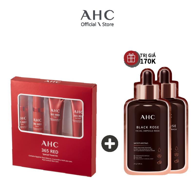 Bộ Dưỡng Da Chống Lão Hóa  AHC 365 Red Travek Kit 4pcs (43ml) giá rẻ