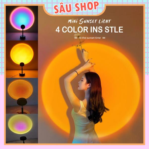 Bảng giá Đèn Led Chiếu Sáng Hoàng Hôn, Cầu Vồng, Mặt Trời - Siêu Hot TikTok (4 màu tiện dụng)