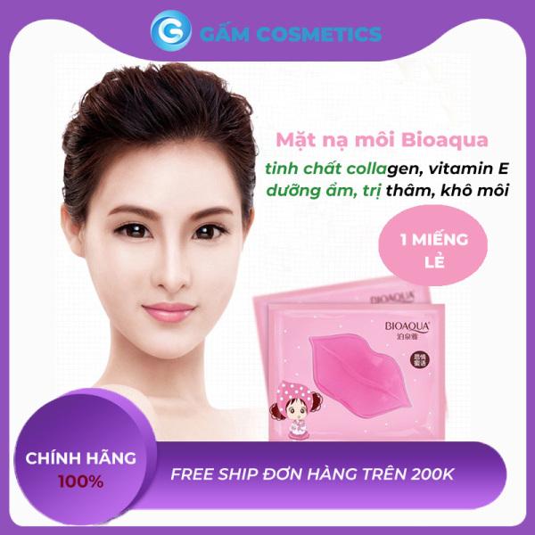 Mặt Nạ Dưỡng Môi Bioaqua Tinh Chất Collagen Vitamin E Dưỡng Ẩm Giảm Thiểu Nếp Nhăn Môi Ngừa Thâm Môi Khô Môi Hàng Nội Địa Trung Gấm Cosmectics