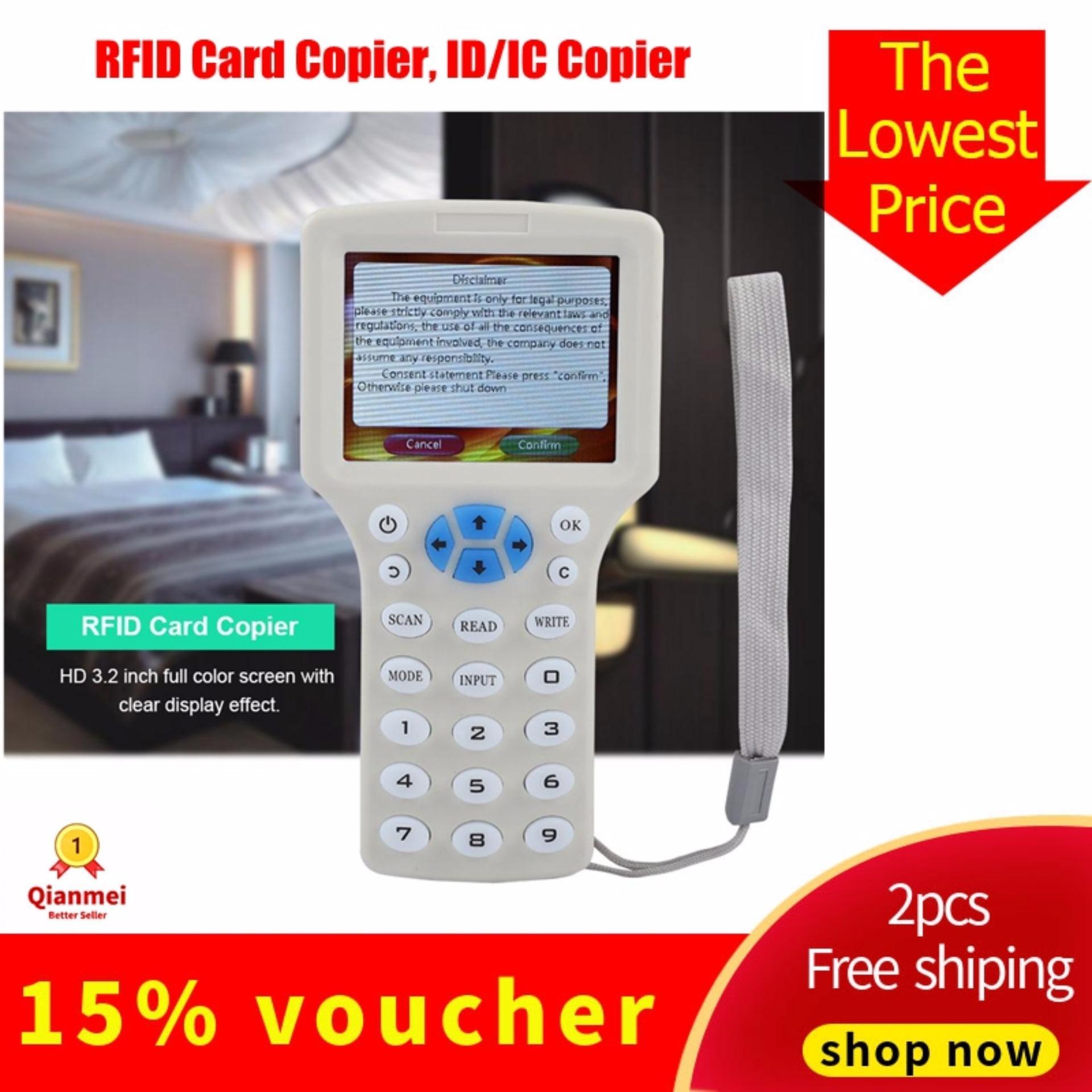 (Qianmei Đảm Bảo Chất Lượng) 9 Tần Số Đa Năng Sao Chép Mã Hóa NFC Thông Minh Thẻ RFID Máy Photocopy ID/IC Đầu Đọc Nhà Văn