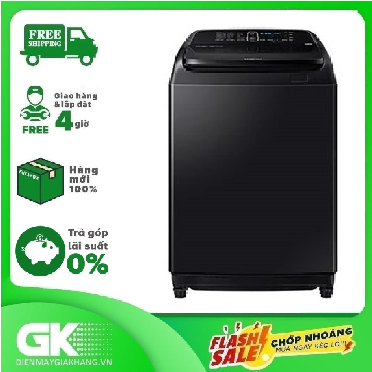 TRẢ GÓP 0% - Máy giặt Samsung Inverter 16 kg WA16R6380BV/SV- Bảo hành 2 năm