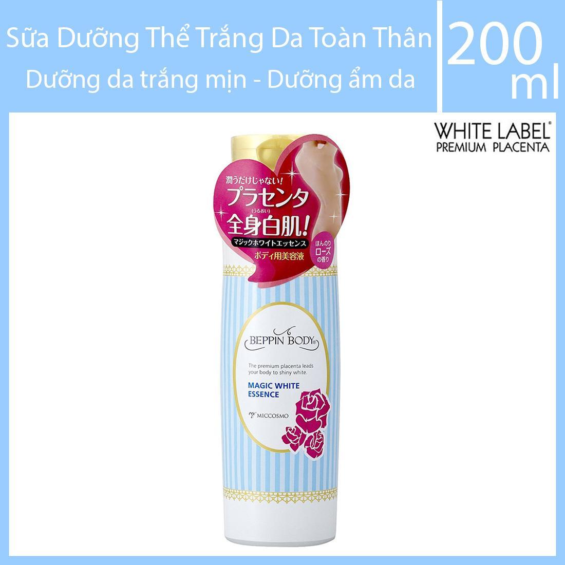 Sữa Dưỡng Thể, Dưỡng Trắng Da Toàn Thân Beppin Body Magic White Essence 200ml - Dưỡng da trắng mịn, dưỡng ẩm hiệu quả cho da