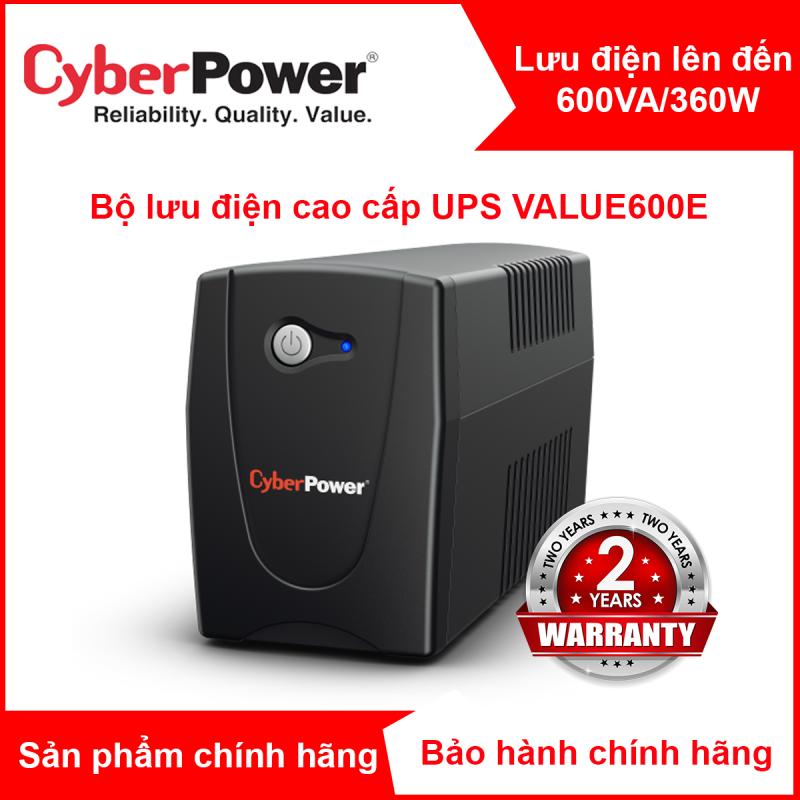 Bảng giá Bộ lưu điện UPS CyberPower VALUE600E - 600VA/360W Phong Vũ
