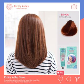 Kem nhuộm tóc cao cấp màu nâu vàng Molokai 60ml M-44 [ TẶNG KÈM GĂNG TAY + CHAI OXY TRỢ DƯỠNG TÓC ] thumbnail
