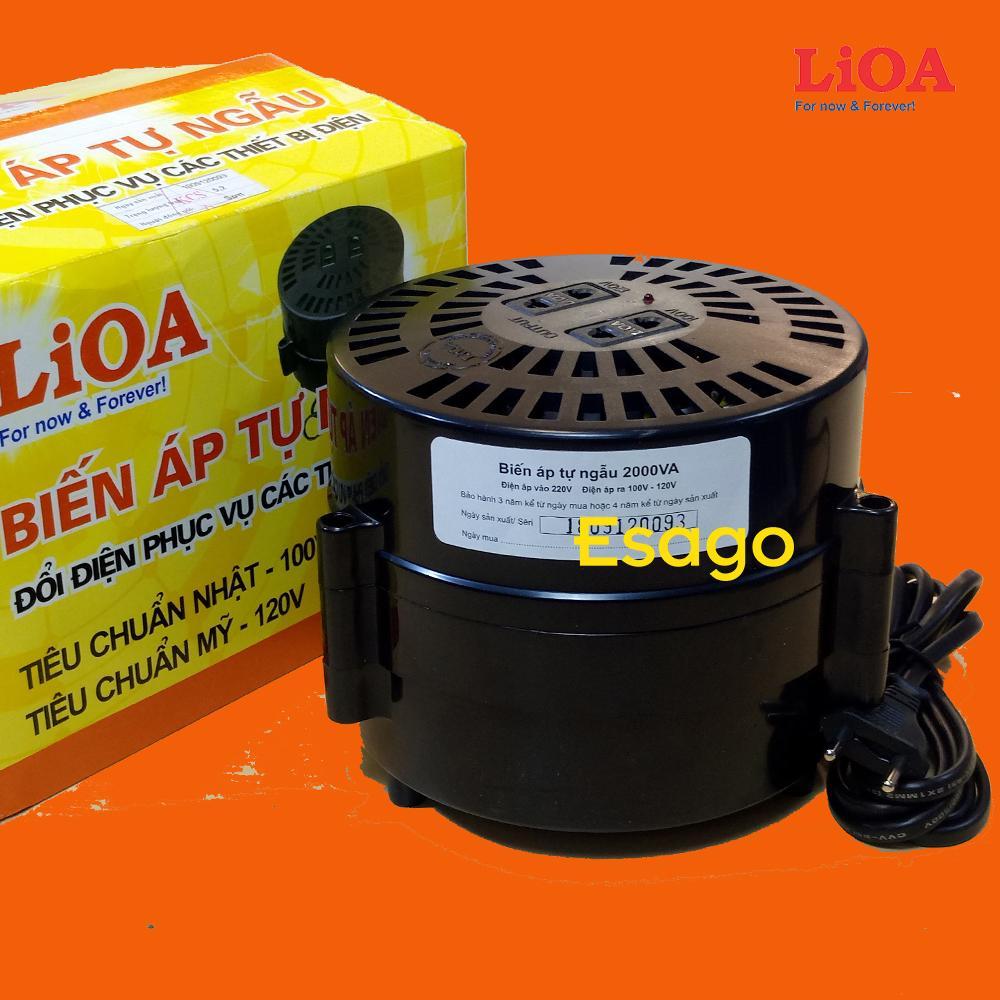 Đổi điện 220V sang 100 & 120V LiOA công suất 2000VA - DN020
