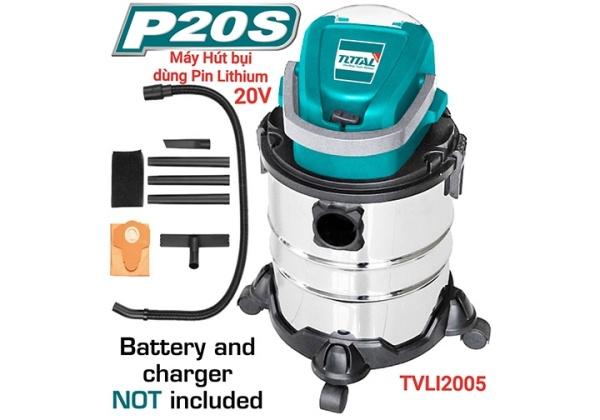 [HCM]Máy hút bụi 20L dùng pin Lithium‑Ion 20V Total TVLI2005