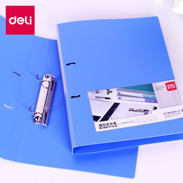 File còng nhẫn 2 càng A4 Deli, Xanh dương - 1 chiếc - 5383