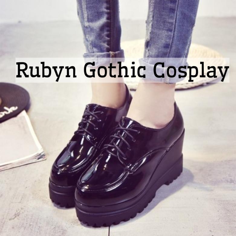 🍁Giày oxford độn đế tăng chiều cao 9cm ( Rubyn Gothic Cosplay Store ) giá rẻ