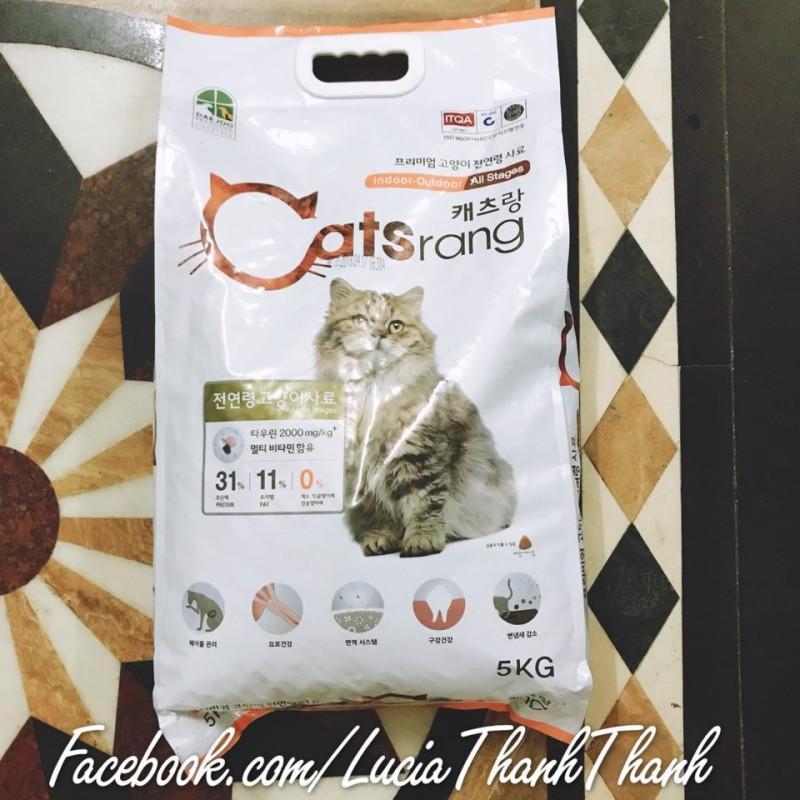 Thức ăn hạt khô cho mèo Catsrang 1kg