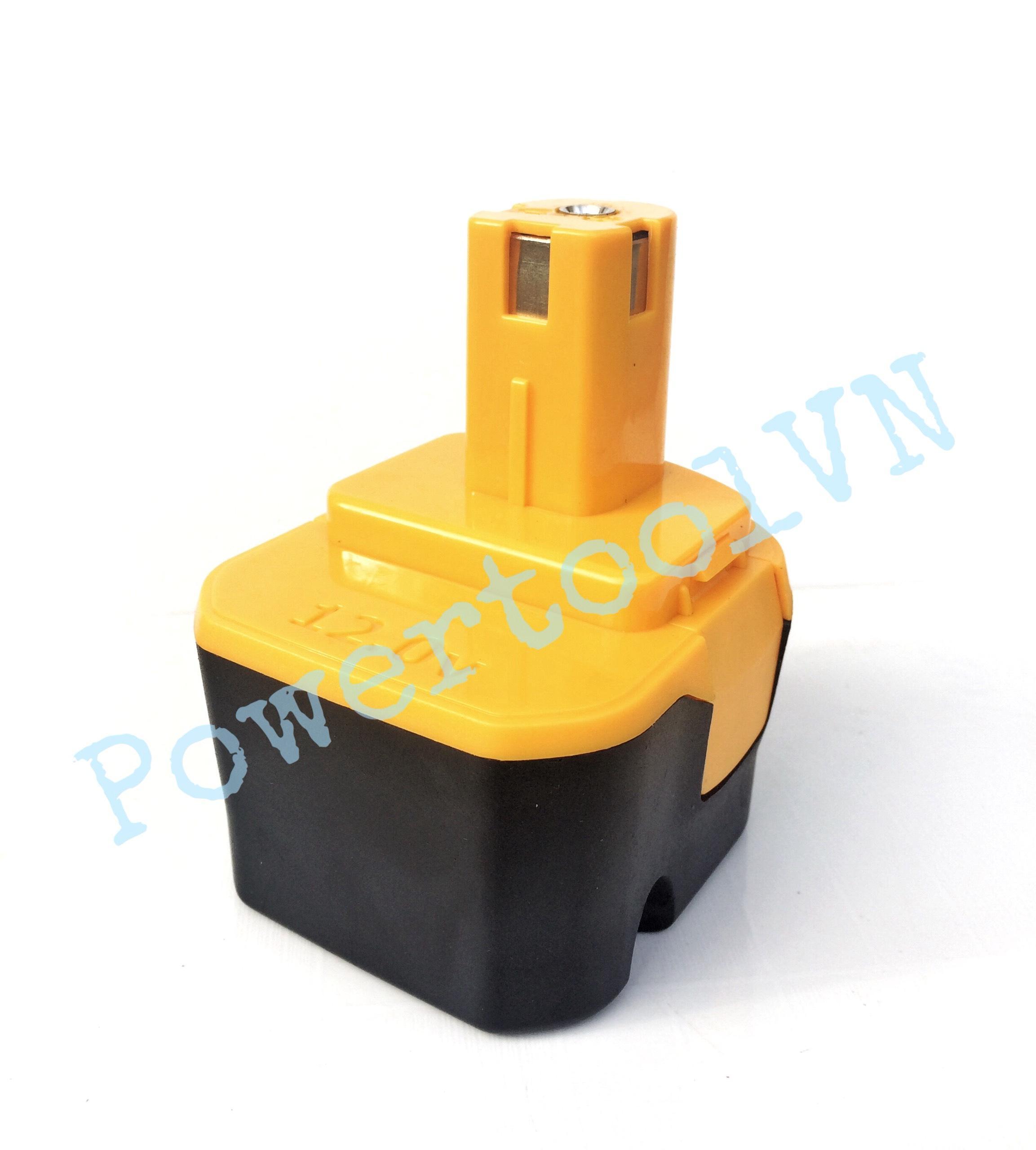 Pin máy khoan12V, Dùng cho máy khoan, máy bắt vít Ryobi 12v, 3S2P, dung lượng 4000Mah, dòng xả 40A kèm mạch bảo vệ sạc xả, pin đóng mới 100% bảo hành 3 tháng