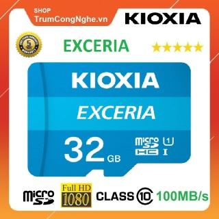 Thẻ nhớ 32GB KIOXIA (Toshiba) Exceria microSDHC Class10 100MB s Tốc Độ Cao thumbnail