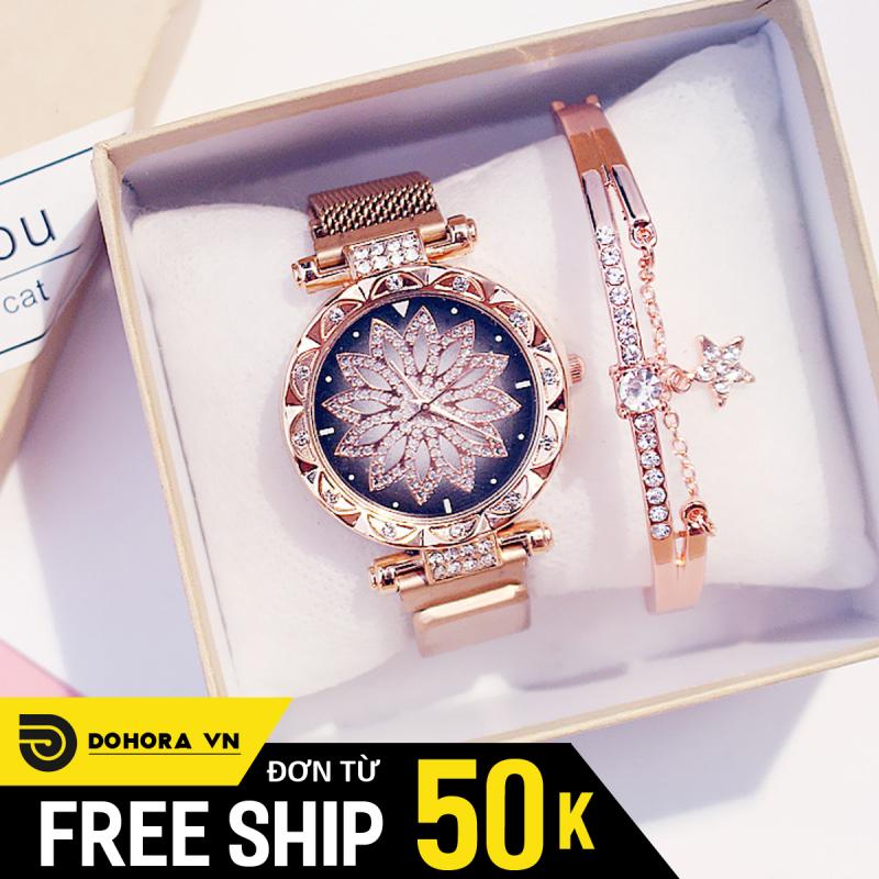 Nơi bán Đồng hồ nữ, Đồng hồ thời trang, Đồng hồ Candycat C04, Dây lưới nam châm, Mặt hoa , Sang trọng, Siêu đẹp, Nhiều màu