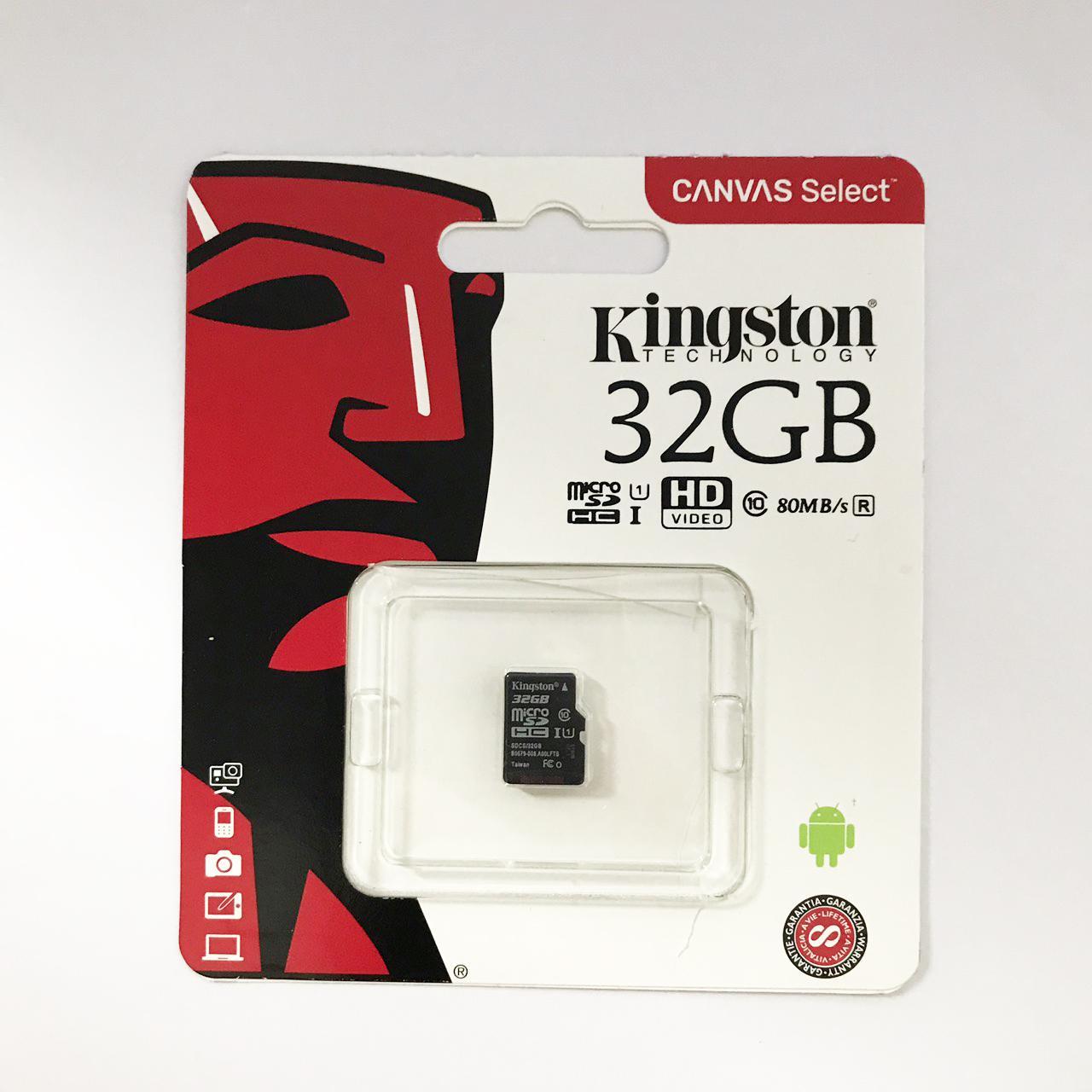Thẻ nhớ micro SD kingston 32GB class 10 - Tem FPT, Vĩnh xuân