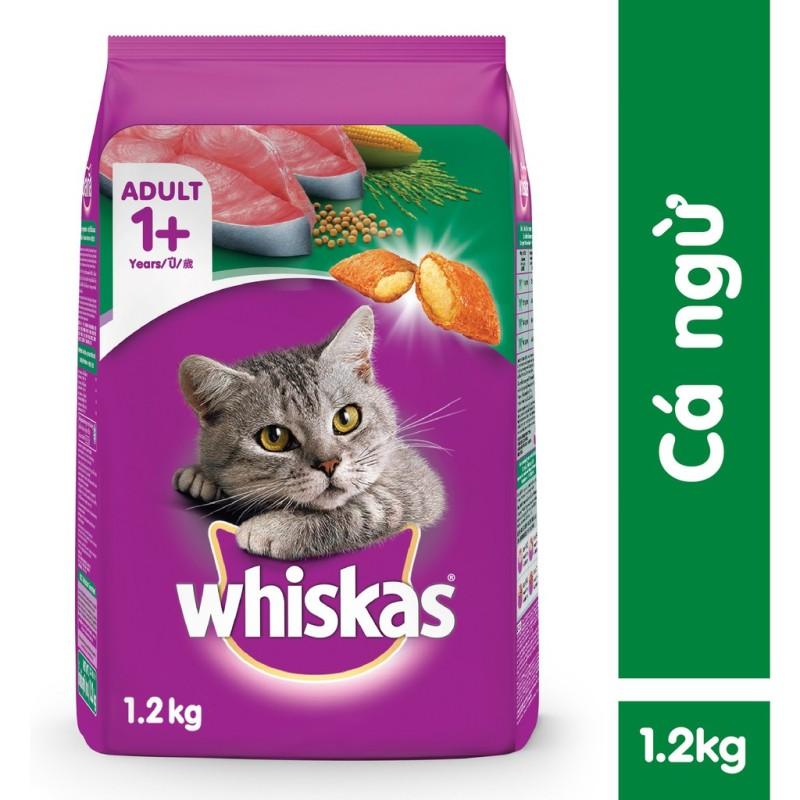 Thức ăn Whiskas vị cá Ngừ 1,2kg