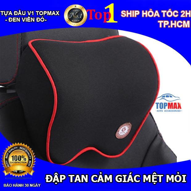 Gối tựa đầu xe hơi chất liệu cao su non hoạt tính cao cấp TOPMAX giảm cảm giác đau mỏi cổ gáy