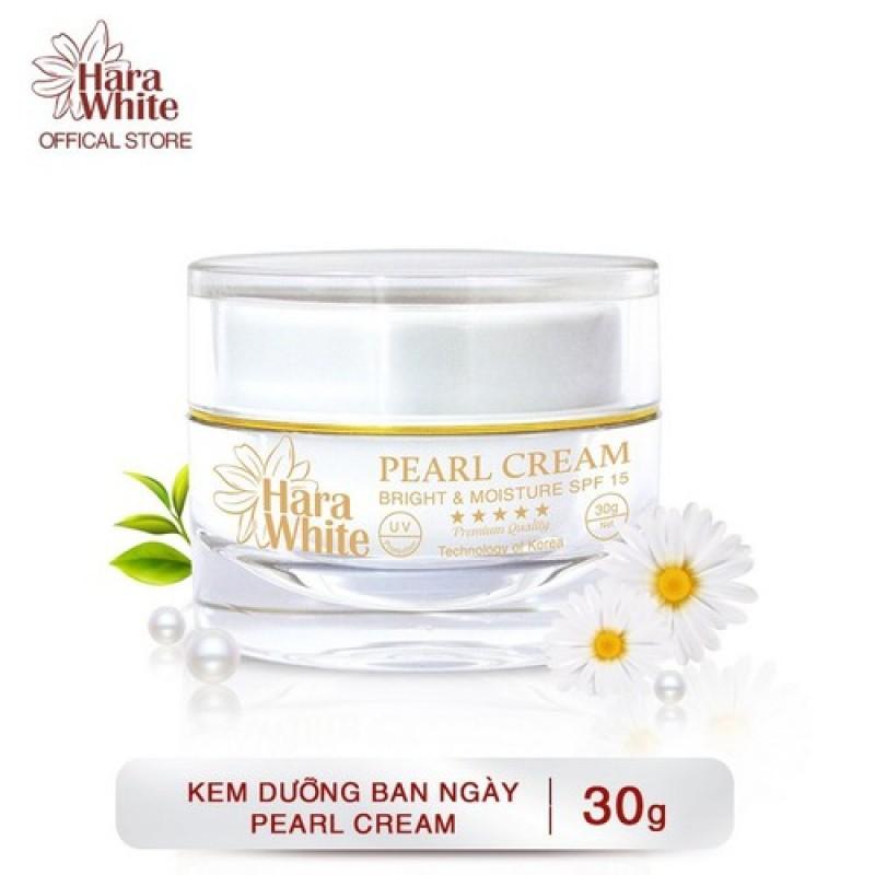 Kem dưỡng trắng da Ngọc Trai ngăn ngừa lão hóa, nhăn da, se khít lỗ chân lông Hara White Pearl Cream 30g giá rẻ
