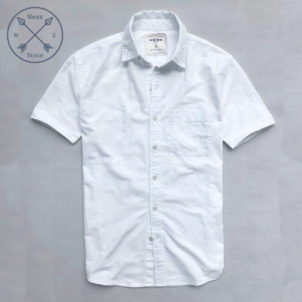 Áo sơ mi nam ngắn tay xanh đen aber regular fit chất liệu oxford 100% cotton